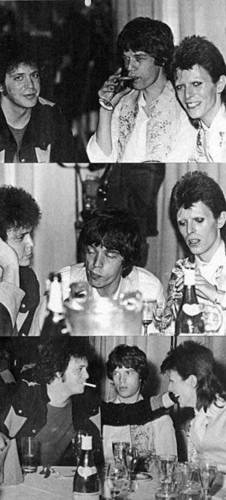 Lou Reed, David Bowie and Mick Jagger