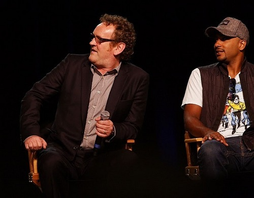 Cirroc Lofton and Colm Meaney