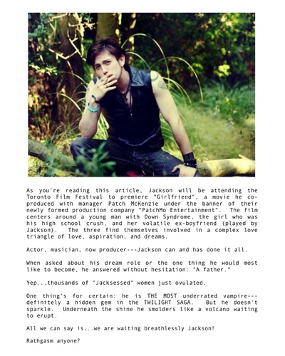 Jackson Rathbone 'Troix' magazine scans (October 2010)