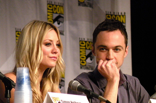 Jim Parsons and Kaley Cuoco-Comic-Con 201