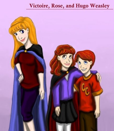 Victorie, Rose and Hugo Weasley