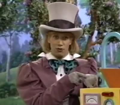 John Hoffman as the Mad Hatter