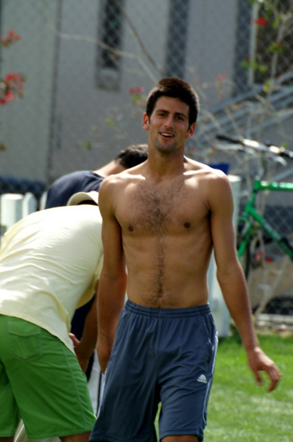 novak shirtless bulge..