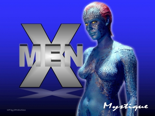 Sexy Mystique from The X-men played by Rebecca Romijn