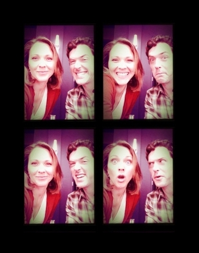 Kelli Williams and Brendan Hines Behin the Scenes of Season 3