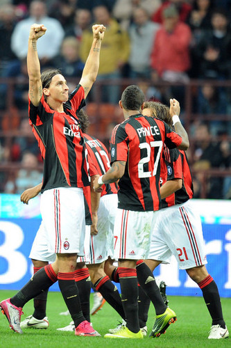 Zlatan playing for Milan