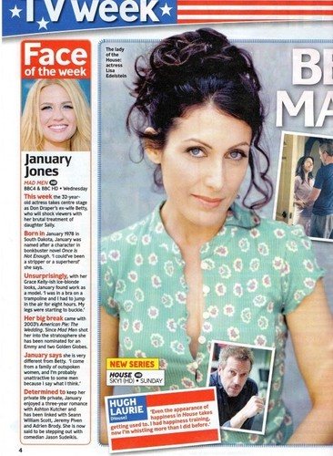 TV Guide (UK) - Lisa Edelstein Interview