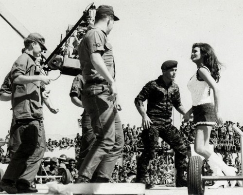 raquel groovin' with the enlisted at viet nam