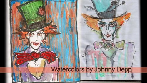Johnny Depp Drawing Of Mad Hatter