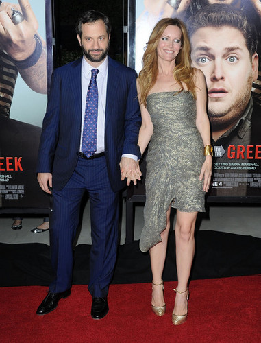 Judd Apatow & Leslie Mann @ Get Him to the Greek Premiere - 2010