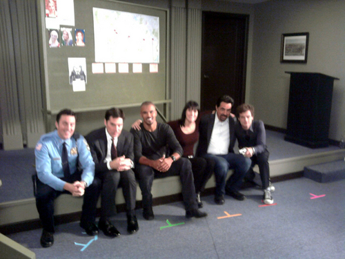 On set cast photo.