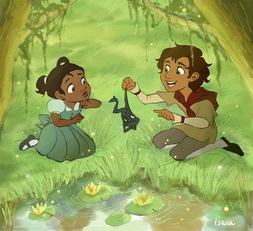 Tiana and Naveen as kids!