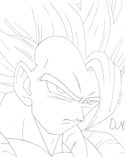 Artworx88: My Gogeta drawing!