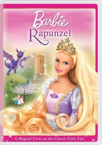 barbie as Rapunzel- new cover to old movie