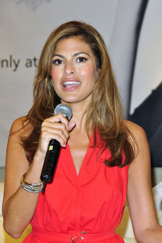 Eva Mendes Launches Her Line of Bedding in Toronto