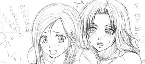 Rangiku and Orihime Yuri