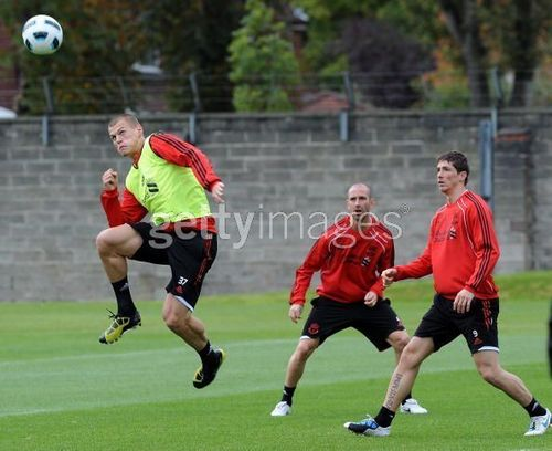 Nando at Liverpool Training