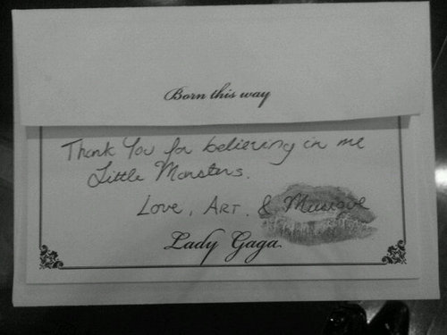 Gaga thanks her Little Monsters!
