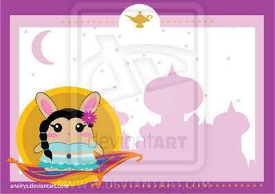 Jasmine Bunny stationery