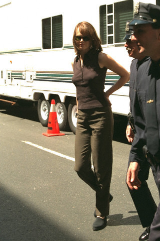 Nicole Kidman on the set of The Peacemaker
