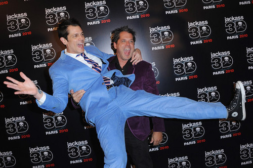 Jeff Tremaine & Johnny Knoxville @ the Paris Premiere of 'Jackass 3D'