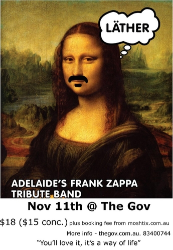 LATHER- FRANk ZAPPA دکھائیں @ THE GOV