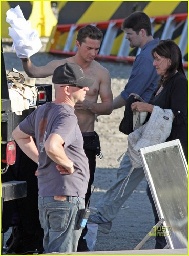 Shia on set trasnpormer 3