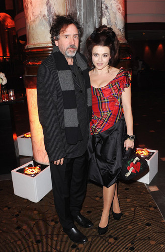 Tim 버튼, burton & Helena Bonham Carter @ the BFI 런던 Film Festival