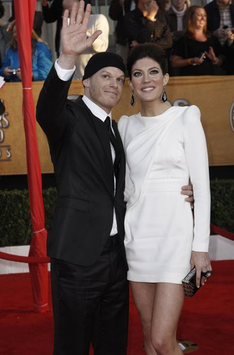 Michael C. Hall and Jennifer Carpenter at the SAG Awards in January 2010