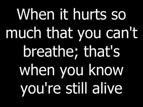 When It Hurts...
