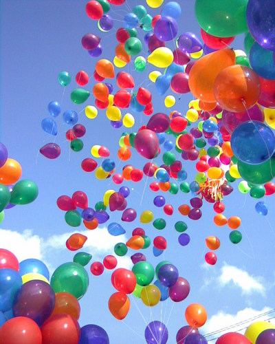 Colorful balloons to make आप happy :)
