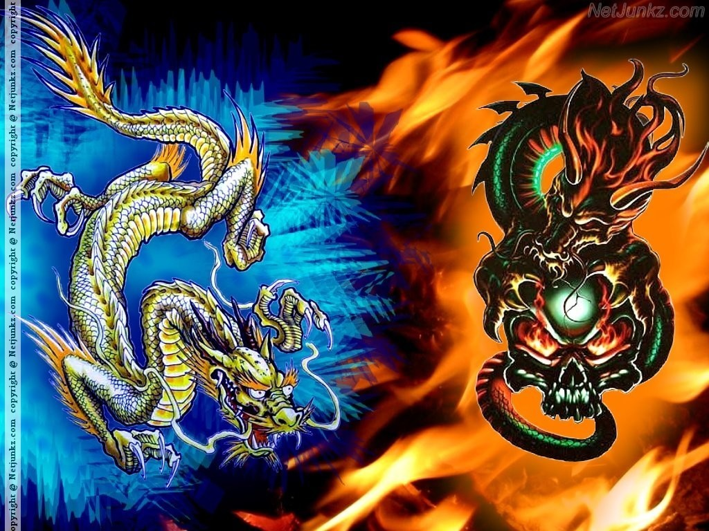 Fire And Ice Dragons Funkyrach01 Wallpaper 16714238 Fanpop