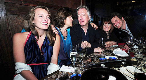 Alan Rickman with Rima, Colin Firth and some other;)