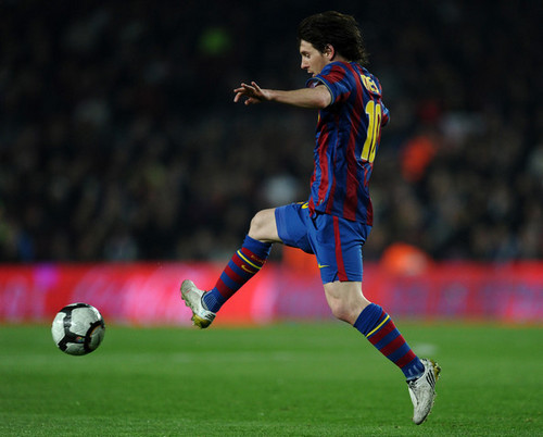 Messi playing for Barça
