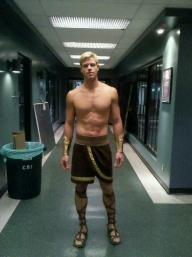 Trevor Donovan: Shirtless Spartan for CSI!