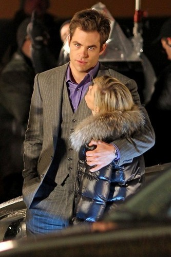 "Chris on the set of ""This Means War"""