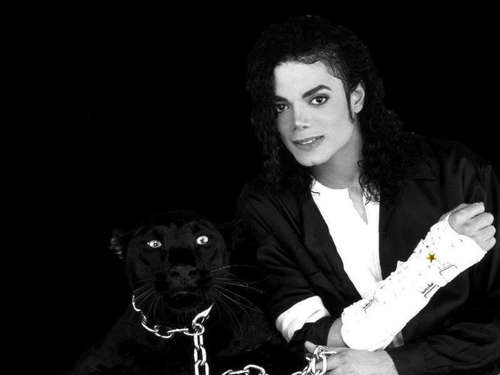 Michael with a panther!