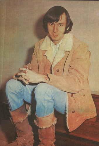 Mike Nesmith sitting