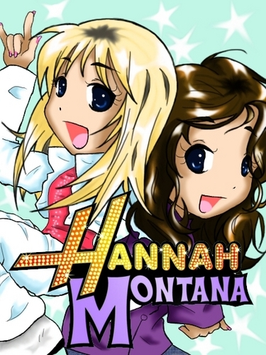 hannah x Miley cartoon