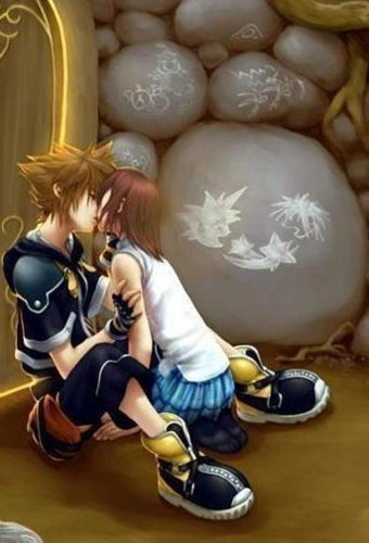 sora and kairi kiss