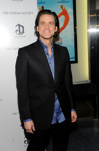 Jim Carrey @ the Cinema Society And DeLeon Tequila Host a Screening of 'I Love You Phillip Morris'