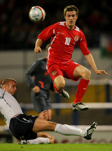 A. Ramsey playing for Wales