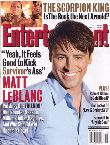 Matt LeBlanc - Entertainment Weekly (May 3rd 2002)