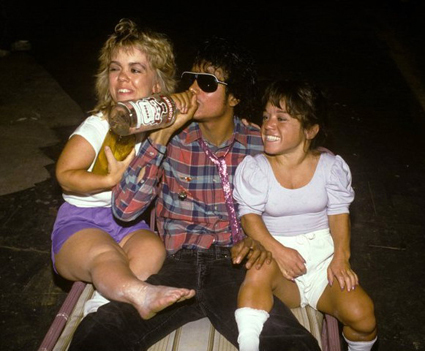MJ drinking vokda