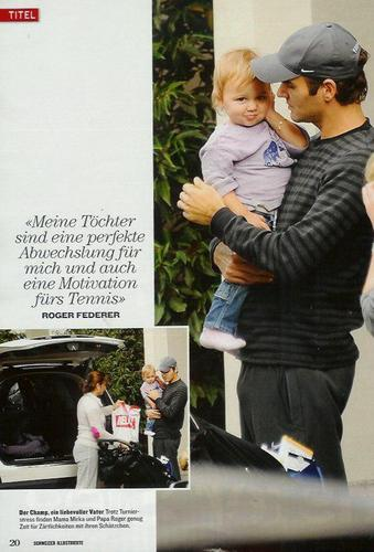 Roger Federer and daughter