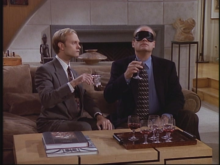 Dr. Frasier Crane & brother Niles Wine Tasting St Louis Wine & Beer