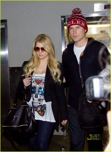 Jessica Simpson: LAX Arrival with Eric Johnson