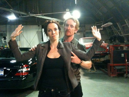 Annie & Tony Curran on S8 Set