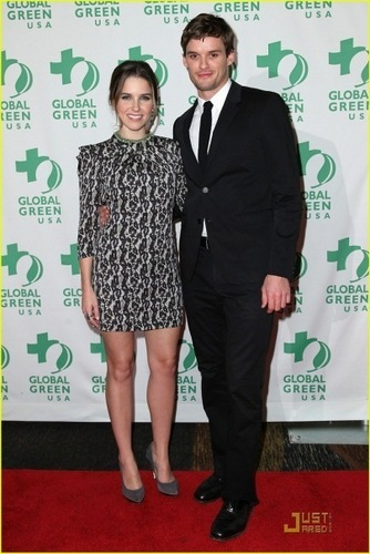 Austin and Sophia at the Global Green Awards