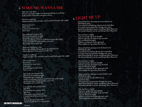 'Light Me Up' booklet